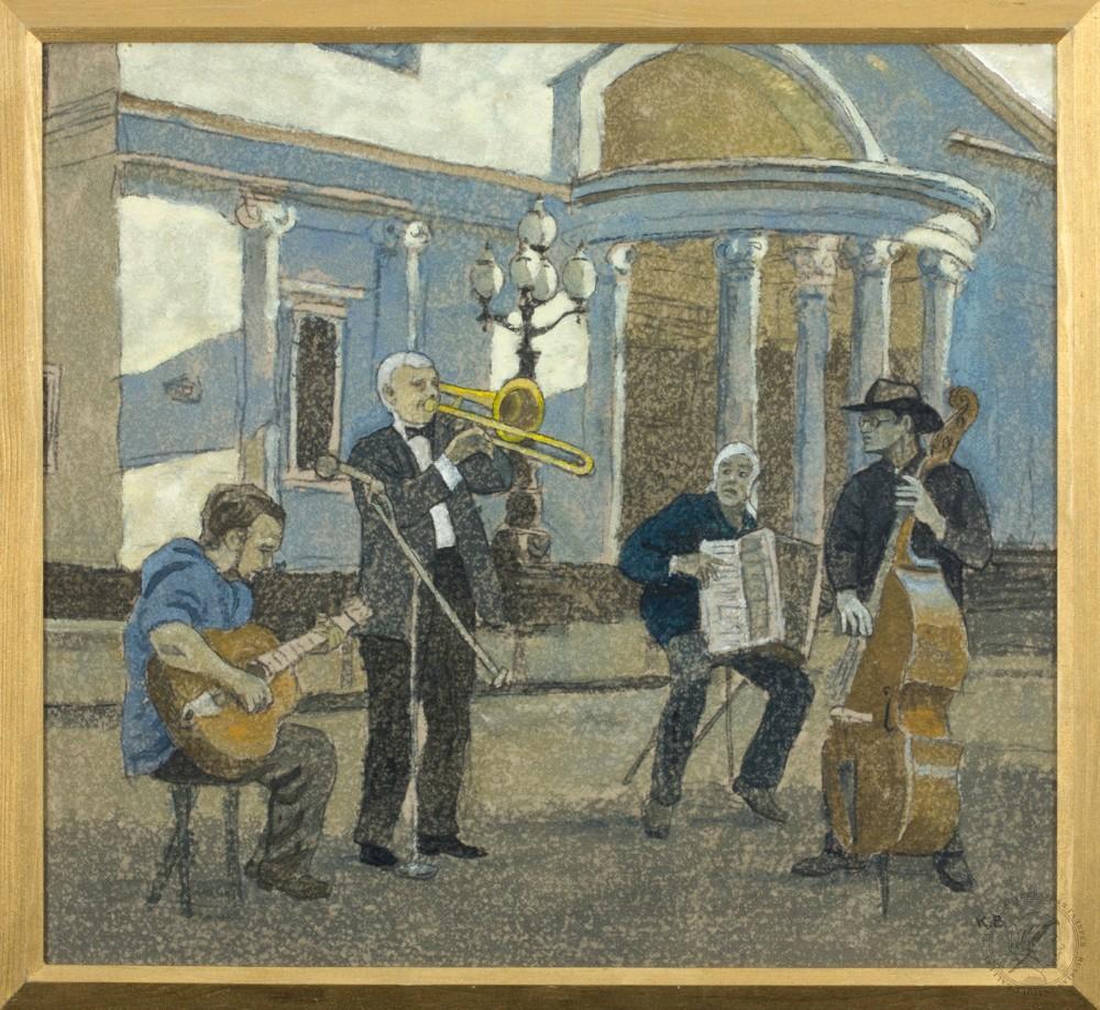 Картина «Уличные музыканты»