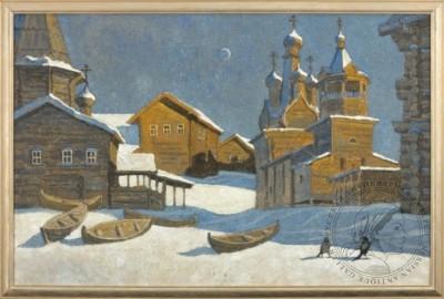 Картина «Там деревянные дворцы сложили севера творцы»
