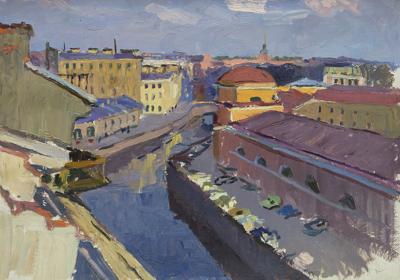 Картина «Ленинград. Набережная реки Мойки»