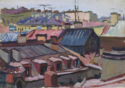 Картина «Ленинградские крыши»