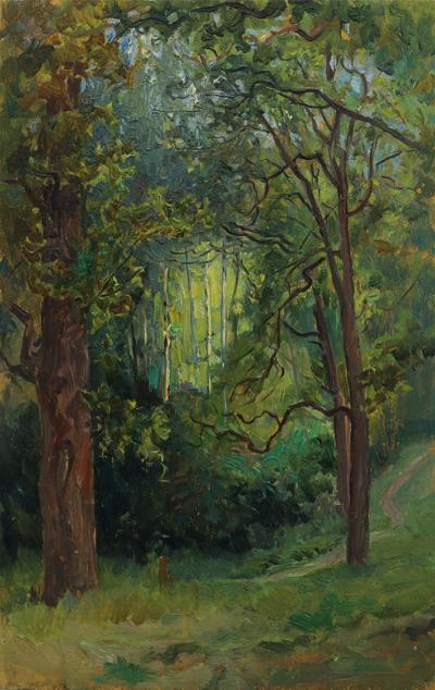 Летний день в лесу художник Морозов