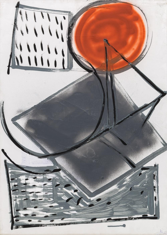 Картина «Композиция с оранжевым кругом»