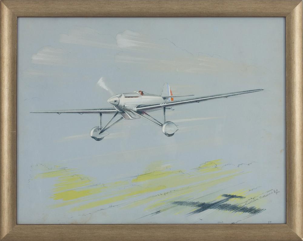 Литография «Самолет»