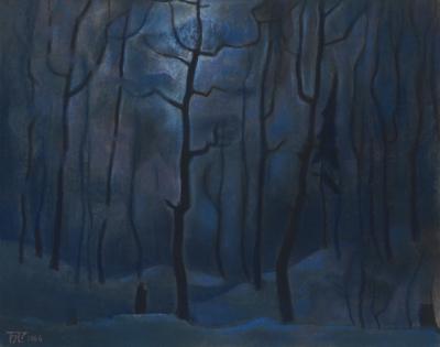 Пастель «Лунный сумрак». Из цикла «Прозрачность»
