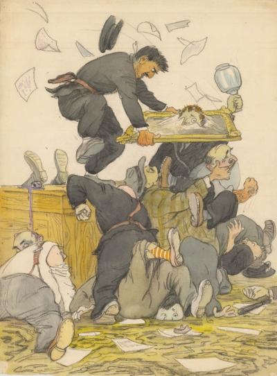 Рисунок «Старик Хоттабыч. Драка»
