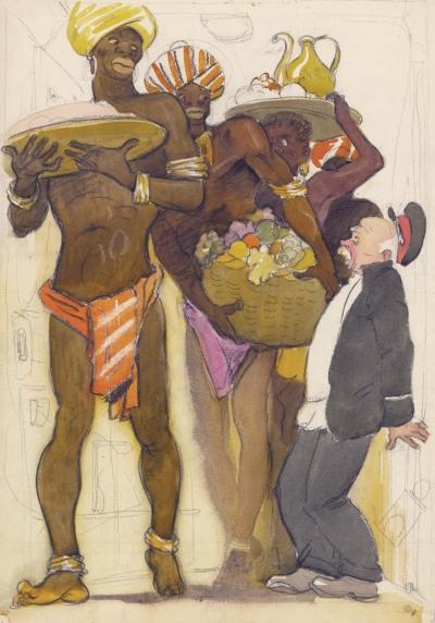 Рисунок «Старик Хоттабыч. Охрана Замка»