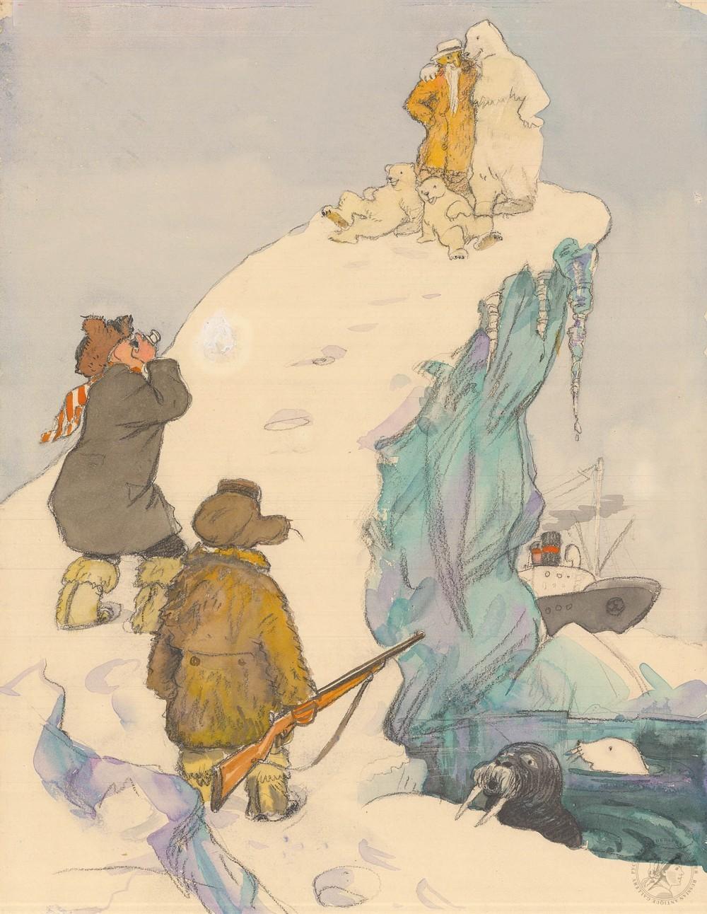 Рисунок «Старик Хоттабыч на Северном полюсе»