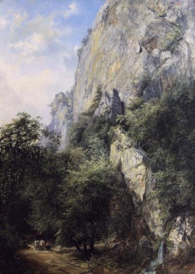 Антикварная картина «Скала Шаан-Кая в Ореанде»