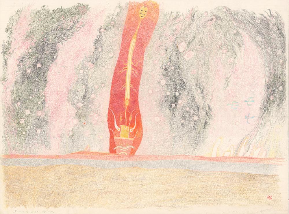 Рисунок «Космическое зачатие. Пустыня»