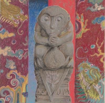 Рисунок «Китайское божество»
