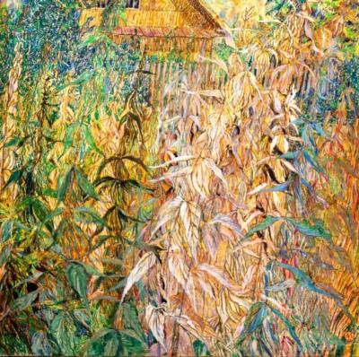 Пастель «Заброшенный сад»