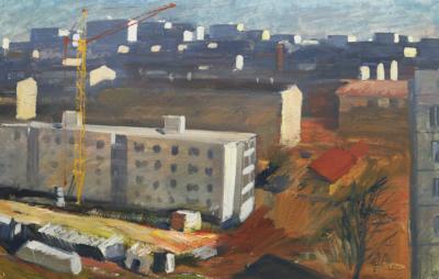 Картина «Москва строится»