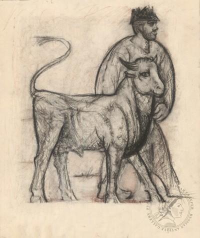 Мужчина с быком Рудаков