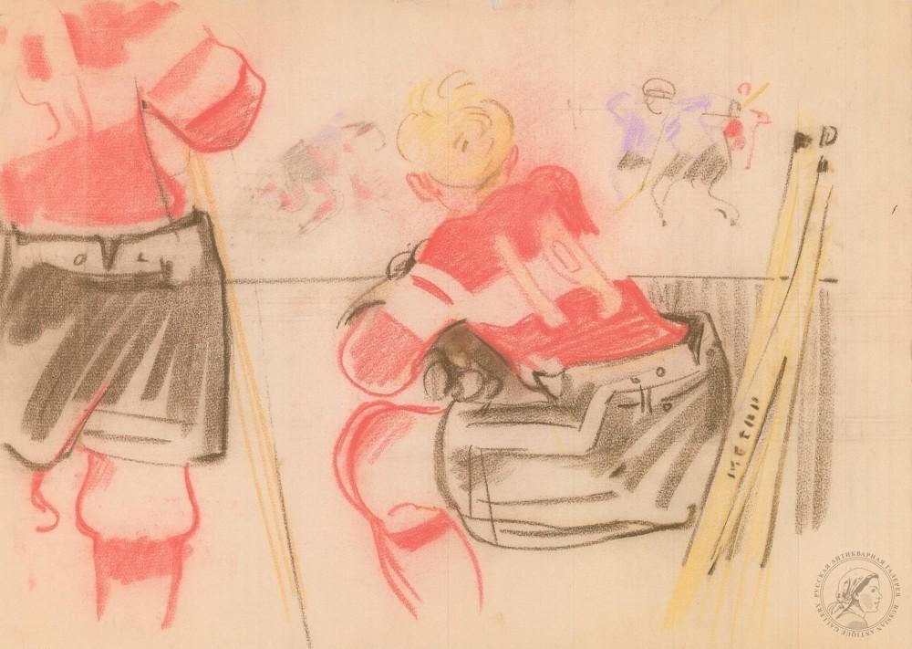 Рисунок «Хоккейный матч»