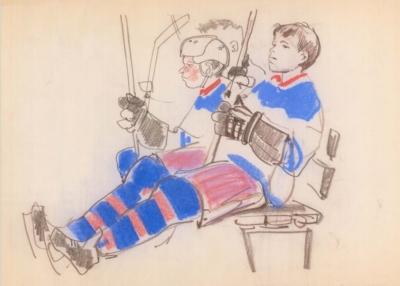 Рисунок «Молодые хоккеисты»