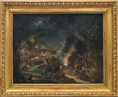 Картина неизвестного художника «Осада города»