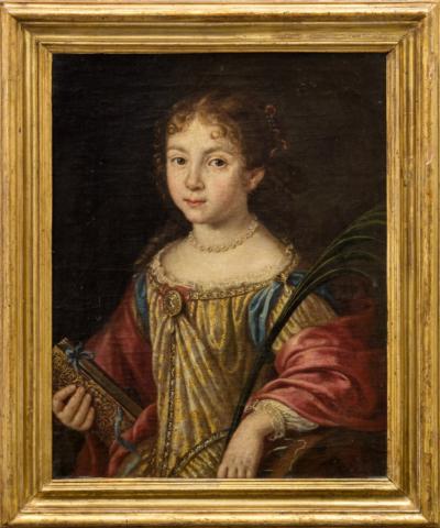 Портрет девочки с книгой и пером