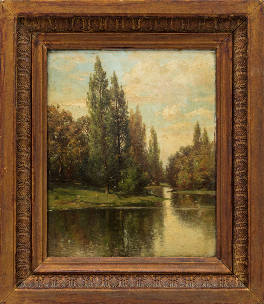Картина «Пейзаж с тихой рекой»