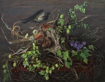 Картина «Натюрморт с птицей»