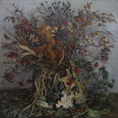 Картина «Натюрморт с сухими травами из-под снега»