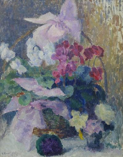 Картина «Натюрморт с цветами в корзине»