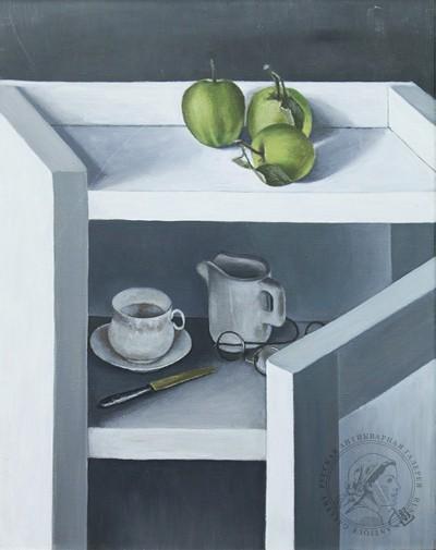 Натюрморт с зелеными яблоками. Сайт