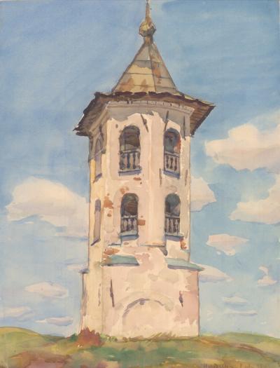 Колокольня церкви Спаса на Нередице