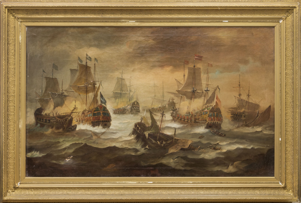 Картина «Морской бой»