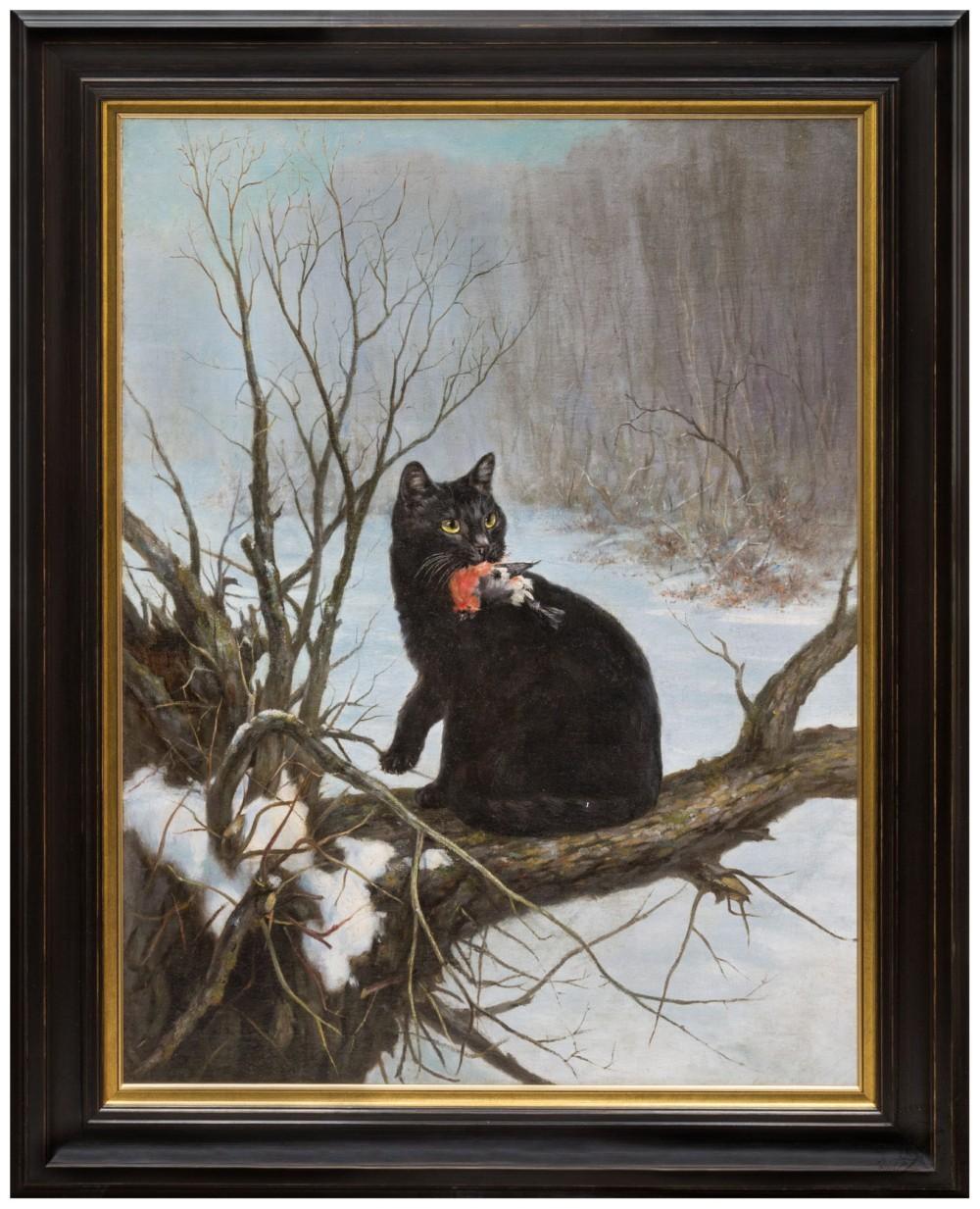 Картина «Чёрная кошка»