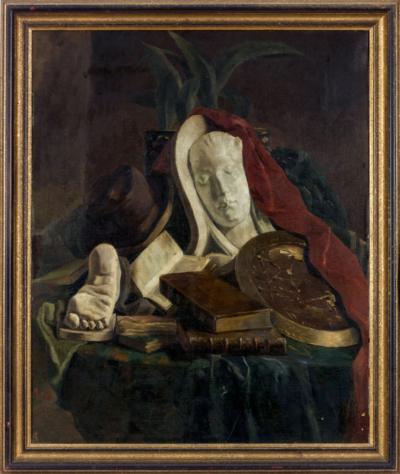 Натюрморт с гипсовой скульптурой