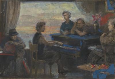 Картина «За пианино»