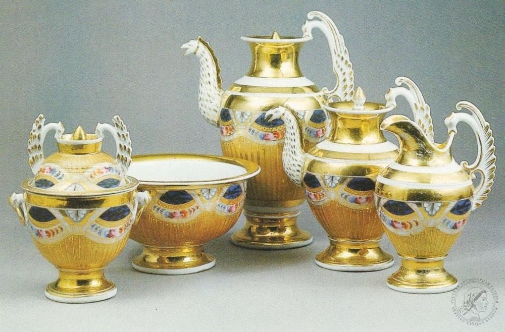 История фарфорового завода братьев Новых, фарфоровый чайный сервиз производимой фабрикой