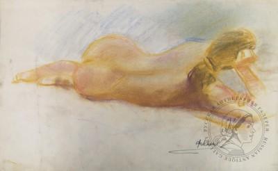 Рисунок «Лежащая обнаженная»