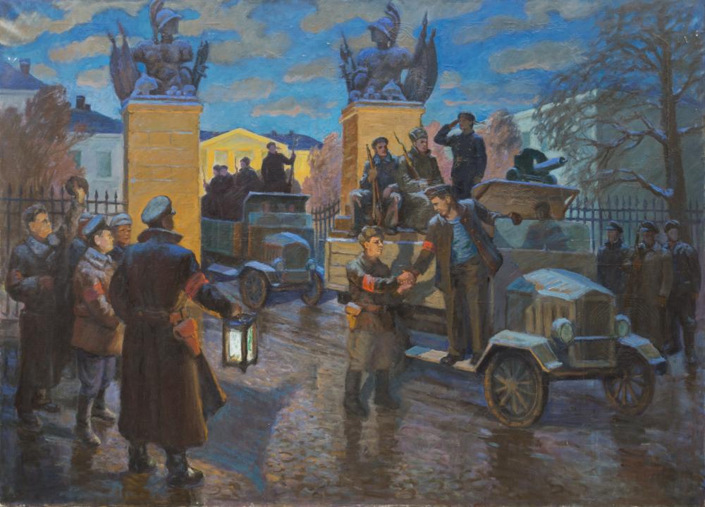 Картина «Большевики берут Тульский арсенал»