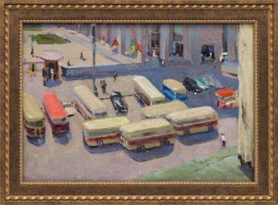 Картина «Городские автобусы»