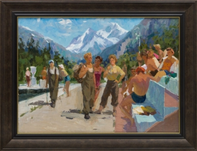 Картина «Кавказ. Альпинисты»