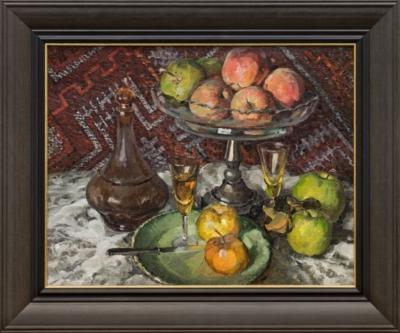 Картина «Ваза с фруктами и графином»