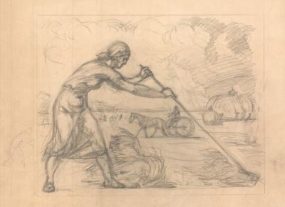 Рисунок «Пора сенокоса»