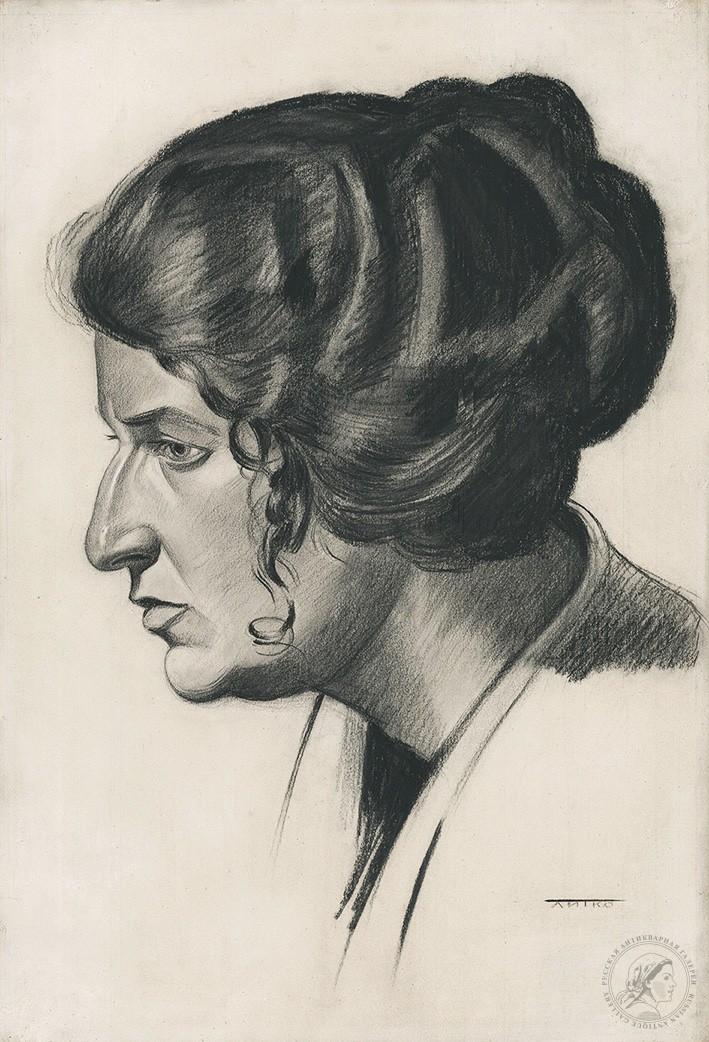 Рисунок «Женский портрет в профиль»