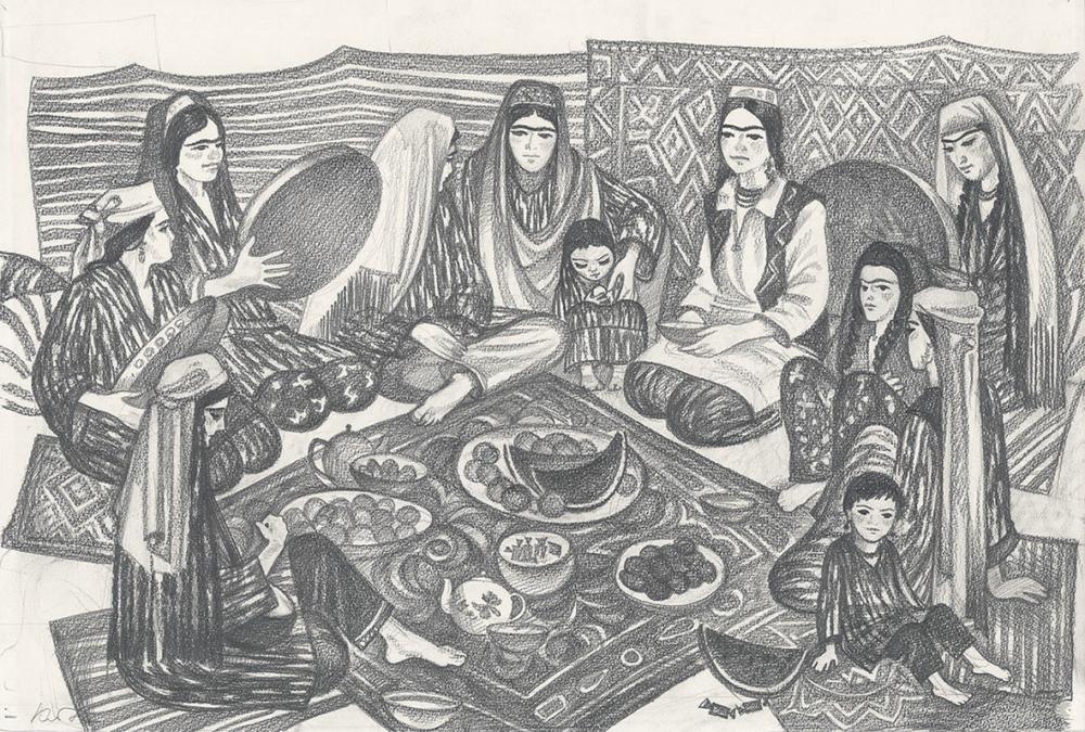 Рисунок «Праздник. Женщины