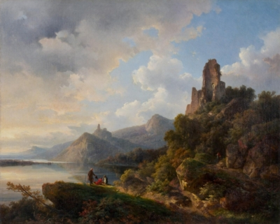 Пейзаж с руинами замка