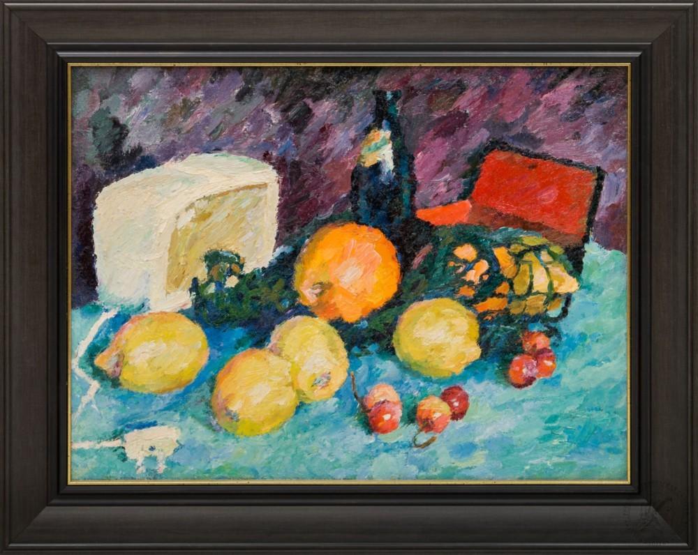 Картина «Натюрморт с фруктами и лимонадом»