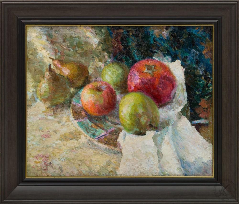 Картина «Яблоки на блюдце»