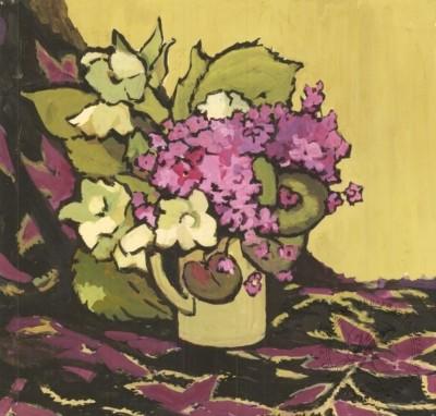 Рисунок «Натюрморт с сиреневыми цветами»