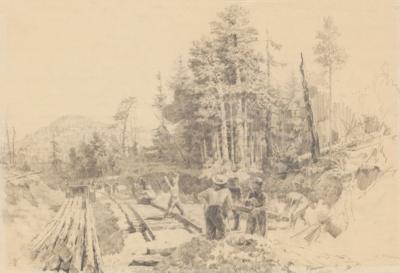 Рисунок «На строительстве железной дороги»