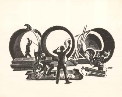 Литография «Трубопровод»