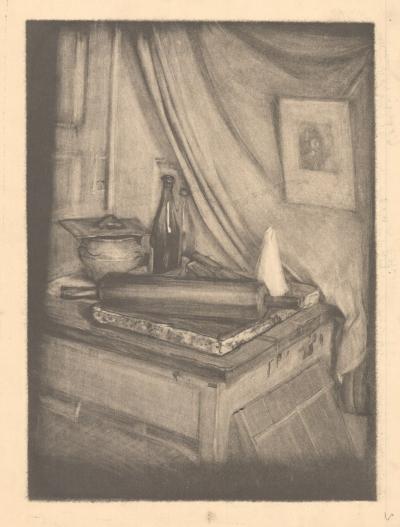 Литография «Натюрморт со скалкой»