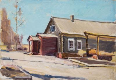 картина дом в деревне
