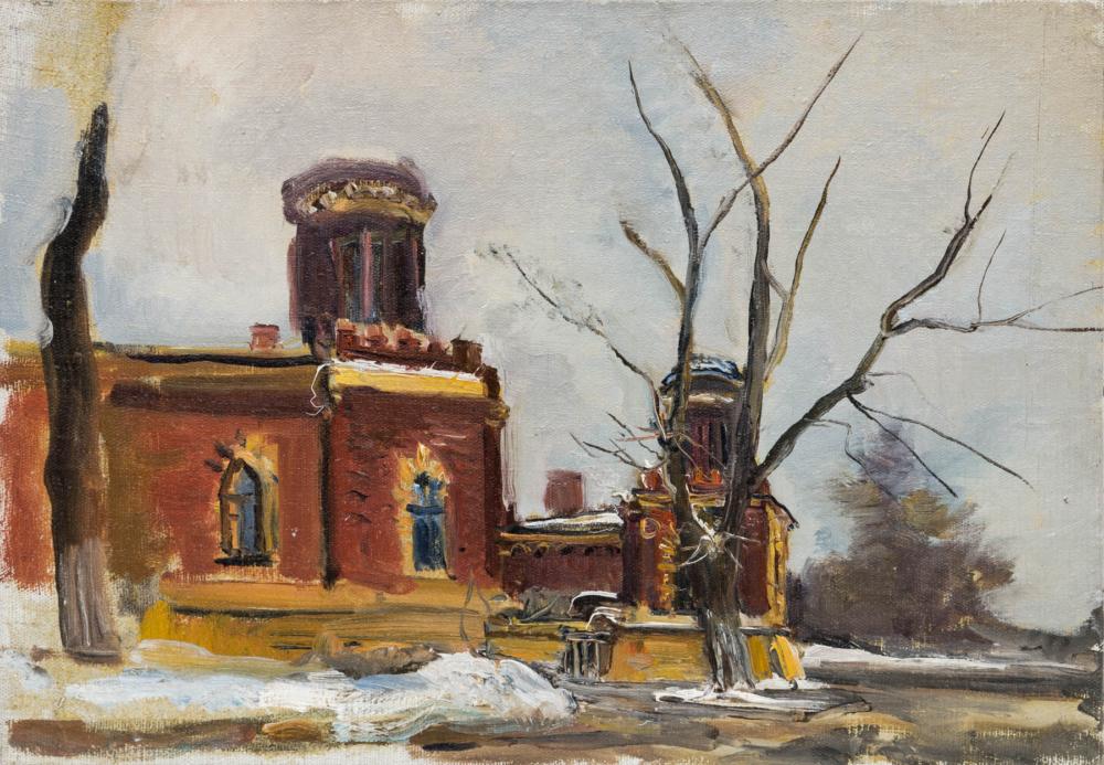 Картина «Петровский путевой дворец»