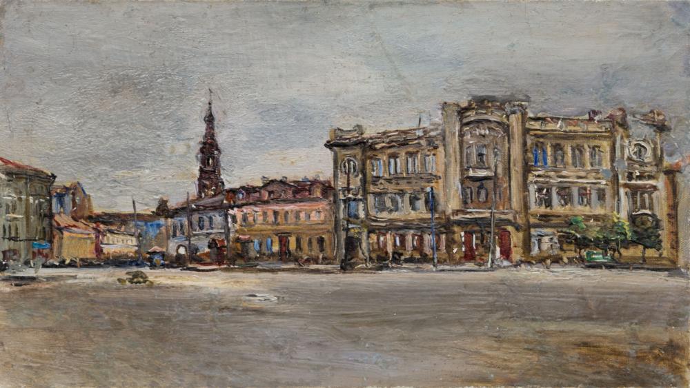 Картина «Городская площадь»